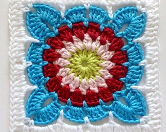 Instant Download Crochet PDF pattern - LD-0121 afghan block