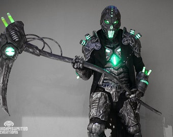 Pre-order for  April 2018 The Electromancer v2.0 customized  - Full original light up LED sci-fi armor costume  cyberpunk reaper