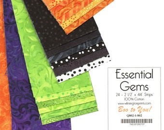 Essential Gems, Boo to You by Willington Prints, Pre Cut Strips, Essentials by Wilmington Prints