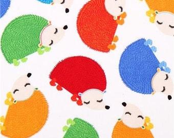 Hedge Hogs by Timeless Treasures, Hedgehog Fabric, Animal Fabric, Kids Fabric, 10160