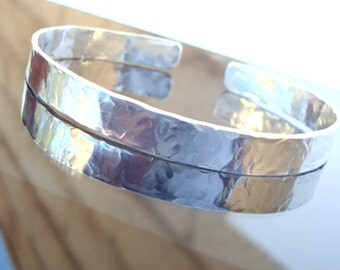 Sterling Silver Cuff - Simple - Classic - Minimalist - Hammered - Cuff Bracelet, Simple Cuff, Silver Cuff, Silver Bangle