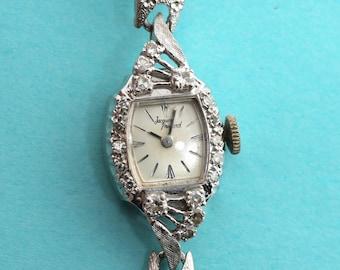 Rare Jacques Prevard Vintage Ladies 14K WG 1/2 CTW Diamond Swiss Wrist Watch Serviced Shop Now for Christmas Birthdays Anniversaries Wedding
