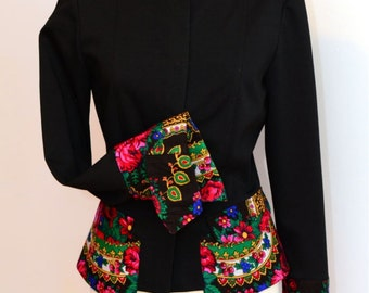 Urban Jacket , Folk Jacket , Bohemian  Jacket ,  Ethnic Jacket , Custom made jacket , Urban Jacket , Boho Jacket