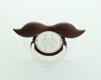 Mustache Pacifier Gentleman Mustache Pacifier Brown Mustache