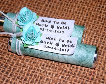 Mint to Be wedding favors,  Mint green wedding favor - Set of 55 Mint rolls,  Bridal shower favor,  party favor, wedding shower favor