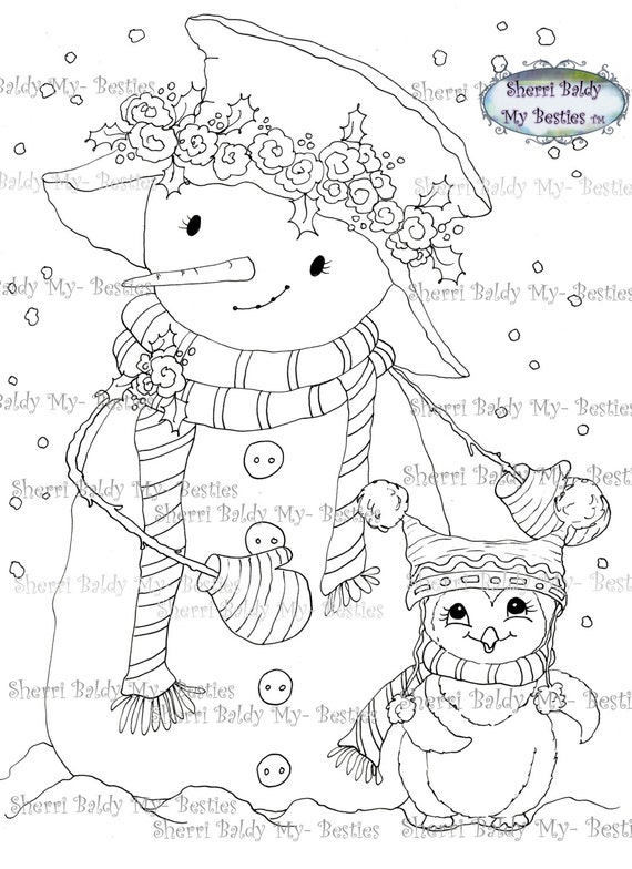 INSTANT DOWNLOAD Digital Digi Stamps Big Eye Big Head Dolls Img489 My Besties By Sherri Baldy