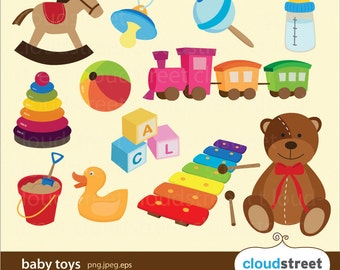 20% OFF baby toys clipart for personal and commercial use ( baby clip art ) vector graphics