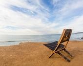 Bourbon Barrel EZ Chair ( Dark, Folding, Beach, Relaxing)