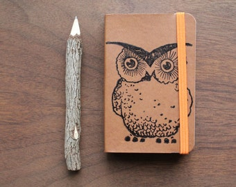 Woodland Owl Pocket Journal Sketch Book Pad