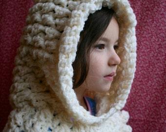 Crochet pattern, ruffle hooded cowl crochet pattern, hooded scarf crochet pattern (190)