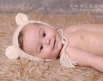 bears hand knit hat