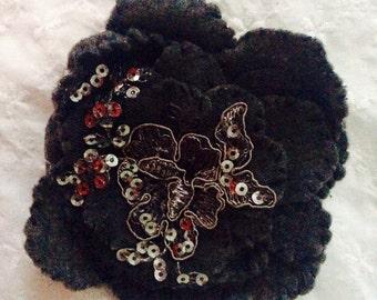 Winter Gray Wool Rose