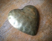 Large Heart Antique Bronze Vintage Style Textured Hearts Love Pendant Charm Jewelry Supplies (BC120)
