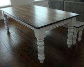 Classic Chunky Turned Leg Farm Table Elegant French Country Dining Table Atlanta