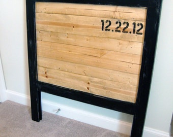Drew Twin Mason Style Headboard  - Atlanta Farmhouse Kids Craftsman Bedroom