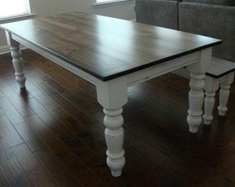 Classic Chunky Turned Leg Farm Table Elegant French Country Dining Table Atlanta