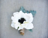 Custom Floral Boutonniere to Match Bridal Bouquet