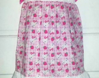 Hello Kitty Boutique Custom Made Pillowcase Dress w/ Solid White Layers