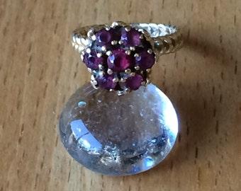 Vintage, tall garnet ring