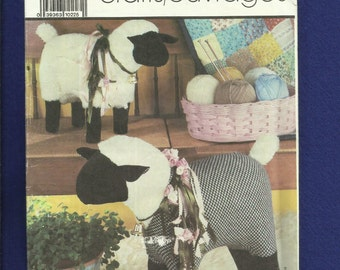 Simplicity 7418 Little Lamb Do Eat Ivy Stuffed Farm Friends Sheep Chic