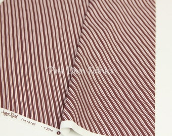 Sugar Rush - Candy Cane Stripe in Brown - Josephine Kimberling for Blend Fabrics- 1/2 Yard