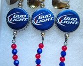 Bud Light Fishing Lures - Gifts for Men - Bud Light Beer Cap Lures to catch those Walleye, Northern Pike, or Other Game Fish - Unique Gift