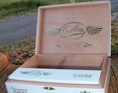 Cigar Box Cuellar 1998 Long Filler Connecticut Kreme White & Gold Wooden Chest New by IndustrialPlanet