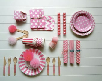 Pink Pink and more Pink Party Sets