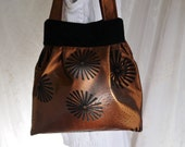 Copper Colored Evening Bag Upcycled Elegant Dressy Purse