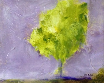 Small Green Tree Abstract Painting