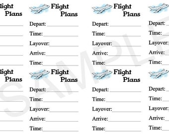 Flight Plans, Planner Stickers, Stickers for Erin Condren Planner, Travel, Reservations, Airplane, Vacation, Business, Family, Work, Fun