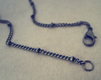 30pcs 18 inche  antique bronze bead chain with lobster clasp 3mm