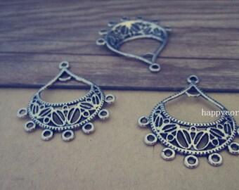 10pcs Antique silver pendant charm connector 30mmx35mm