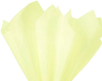 Yellow Tissue Paper 8 Sheets Yellow Gift Wrap Tissue Paper