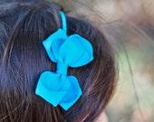 FLORAL turuoise headband