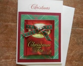 Christmas Tea Greeting Card with real Christmas tea  Bag