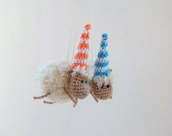 Crochet toy Lamb sheep stuffed animal Crochet toy New Year 2015