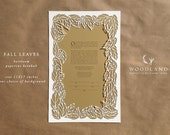 papercut ketubah | wedding vows | Fall Leaves