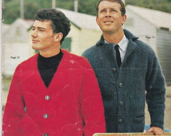 Vintage 1960s - Knits for Men Vintage Knitting  Book No 711, Jumpers, Sweaters, Cardigans, Jackets