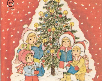 My First Picture Book of Christmas Carols Vintage Rand McNally Junior Elf Book Illustrated by Mary McClain