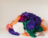 SALE - Ruffle Fabric Scrap Bag - 1 inch Ruffle Fabric Scraps of Various Sizes - item 002