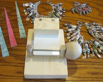"V3 Paper Bead Rolling Machine - Simple Ergonomic Paper Bead Roller - Create 1/8"" Hole Paper Beads With Just ONE Finger"