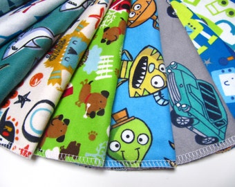 Cloth Napkins, 5 or 10 Boys Mixed Prints Set, Lunchbox Napkins, Children's Cloth Napkins, Back To School