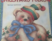 "1998 Folk Art Decorative painting book "" Bonnye's Christmas Folks 4 "" by Bonnye Isenhower 48 pages used book"