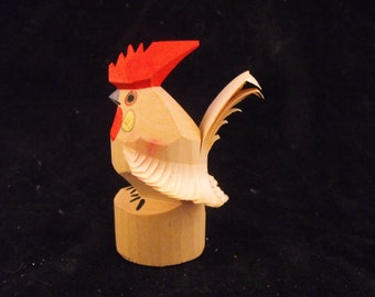 Another Small Sasano Bori Carved Chicken Rooster PRICE REDUCED