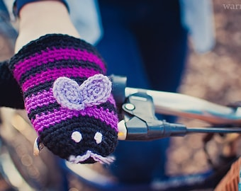 Bike gloves, bike mittens, Butterfly bike gloves, bike mittnes handwarmers