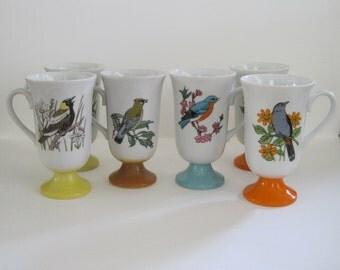 Vintage Birds Coffee Mug Set (6)