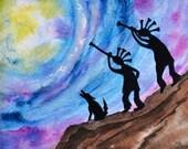 Kokopelli Moon Ridge, fine art print