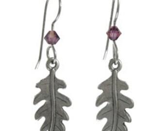 Oakleaf Crystal Earrings
