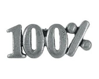 100% Lapel Pin - CC566